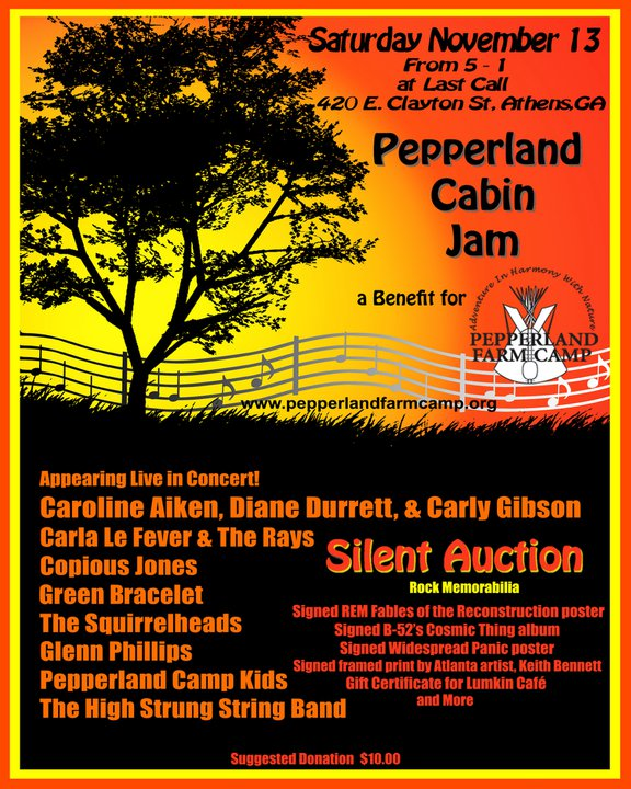 TONIGHT! Pepperland Cabin Jam – Benefit for Pepperland Farm Rock Band Camp!