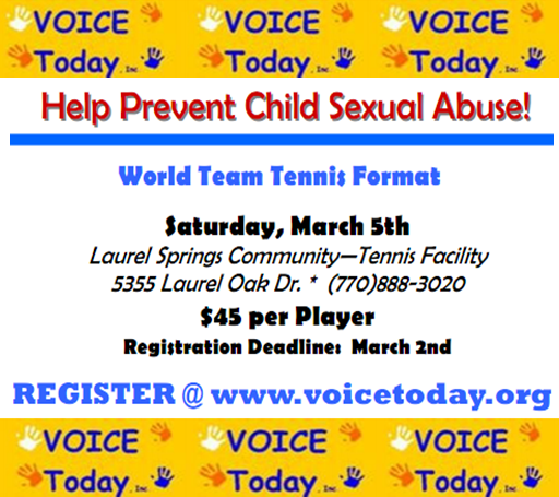 Team Tennis Tournament For Voice Today on March 5th