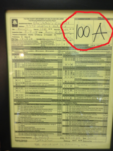 Johns Creek Perfect Health Score