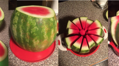 Gigantic Watermelon Slicer Tested